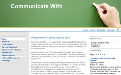 Internet & Intranet for Boards, Parent's Councils & Committees (CMSMS)